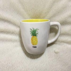 Rae Dunn Piña Pina Yellow Colored Ceramic  Mug NWT